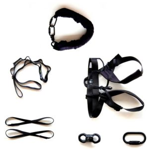 Bungee Super Fly Equipment includes bungee cord, bungee harness, rigging equipment